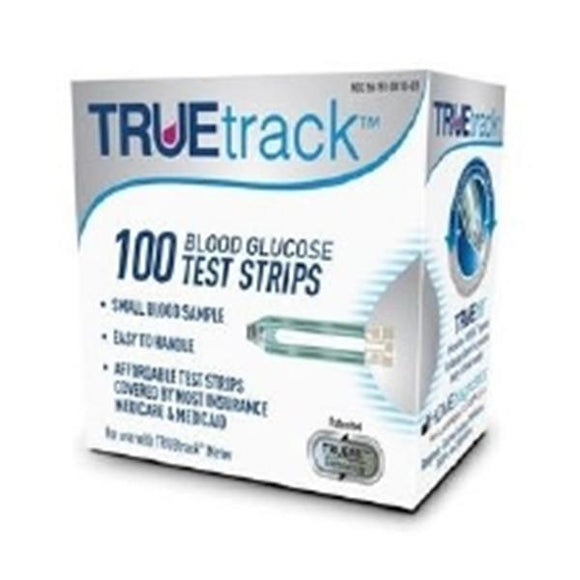 Truetrack Blood Glucose Test Strip 100 Count 100/Bx