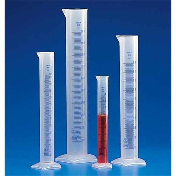 Graduated Cylinder Polypropylene No Closure Clear 500mL Ea