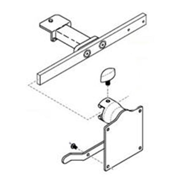 Base Rail Mounting For 230/641/646/647 Procedure Chair Ea