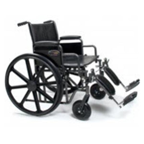 Wheelchair Complete Traveler 500lb Capacity 24