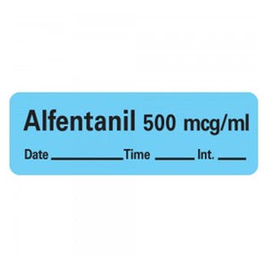 "Anesthesia Label Blue 1-1/2x1/2"" 600/Rl"