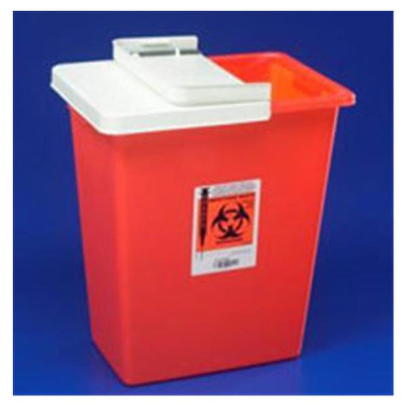 Container Sharps SharpSafety 12gal Large Polypropylene Red Ea, 10 EA/CA