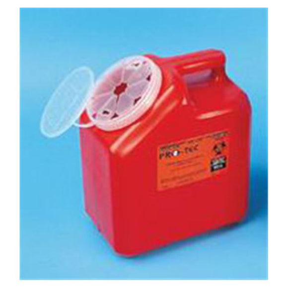 Container Sharps 2gal 1-Piece/Medium PP Lk Cp Red/Translucent Ea, 24 EA/CA