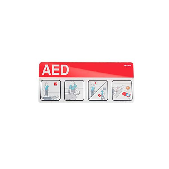 Placecard AED Awareness Philips Laminate 10-1/4x4-1/2