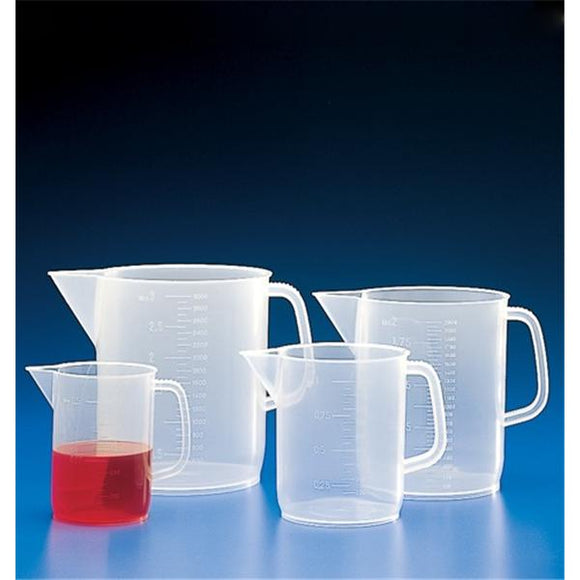 Graduated Beaker Polypropylene No Closure Clear 1000mL Ea