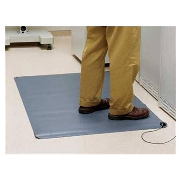 Mat Anti Static/Anti Fatigue 3x5' Gray Ea