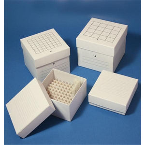 "Freezer Storage Box Cardboard 2x2"" Lid White With Dividers Ea"