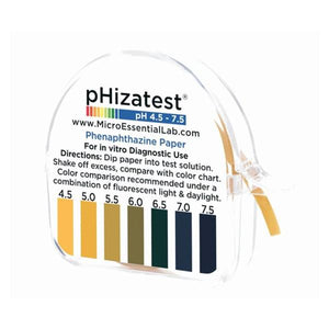 Phizatest Nitrazine Indicator Paper Roll 4.5-7.5 ph 100 Tests Ea, 10 EA/BX