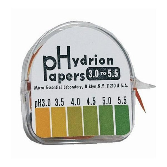 Hydrion Micro Essential Lab pH Test Strip 3-5.5 Range 1/Rl