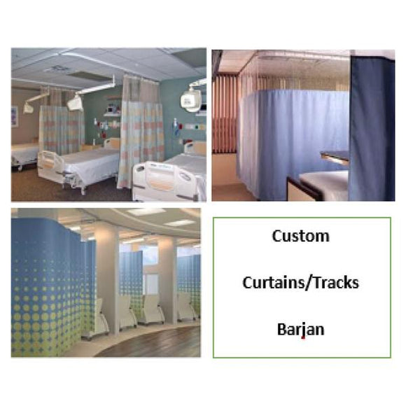 Curtain/Track Cubicle Trident Cardiology Ea
