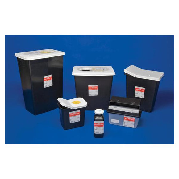 Container Hazardous Waste SharpSafety 8gal PP Black/White Ea, 10 EA/CA