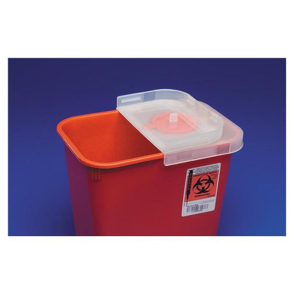 Container Sharps SharpSafety 2qt Plastic Red Ea, 60 EA/CA