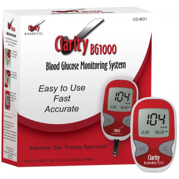 Clarity BG1000 Glucose Control Solution With Stopper 1/Bx