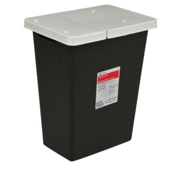 Container Biohazard SharpSafety 8gal PP Symbol Black/White Ea, 10 EA/CA