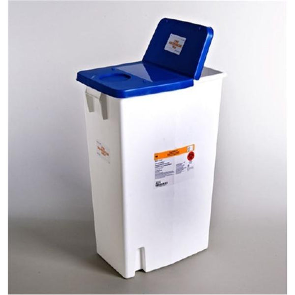 Container Trash SharpSafety 18gal Polypropylene Blue/White Ea, 5 EA/CA