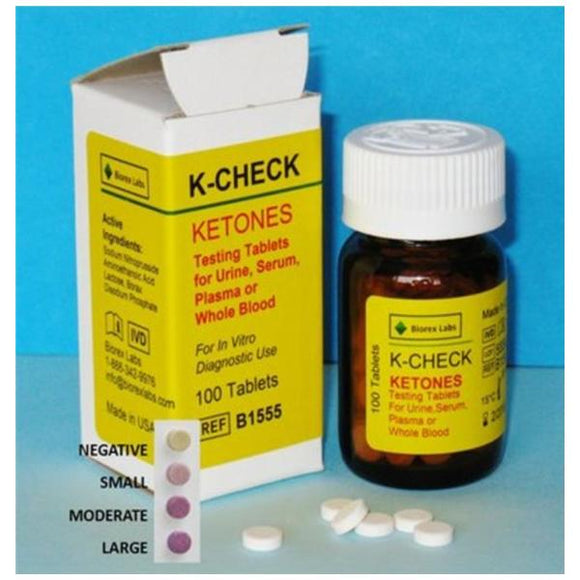 K-Check Test Tablet For Urine,Serum,Plasma or Blood 100/Bt