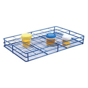 Urine Container Rack 6x4 Format 24 well Blue Ea