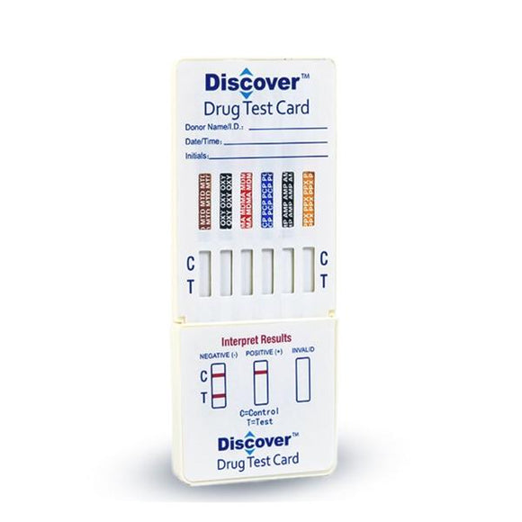 Discover Drug Test Card CLIA Waived 11 Panel Ea