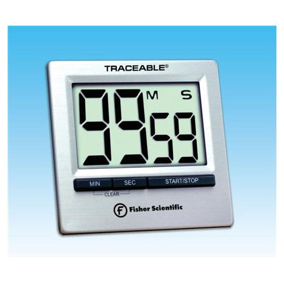 Traceable Countdown Timer 99 Minutes, 59 Seconds Audible Alarm Ea