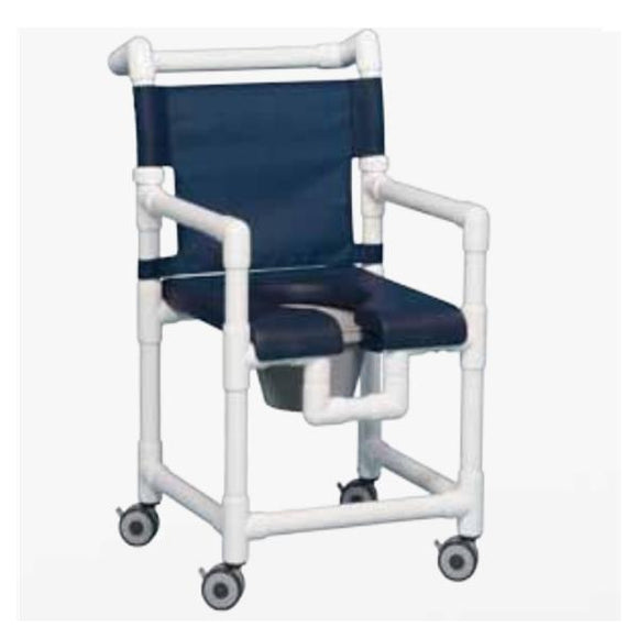 Chair Shower Commode Deluxe 25-1/4x21x38