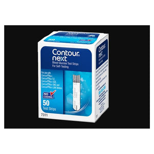 Blood Glucose Test Strips For Contour Blood Glucose Meter 50/Bx