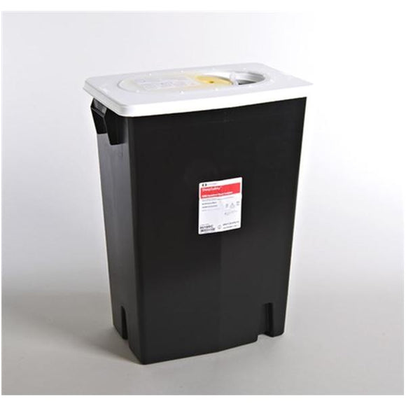 Container RCRA Hazardous Waste SharpSafety 18gal W/ Sld Ld Blk Ea, 5 EA/CA