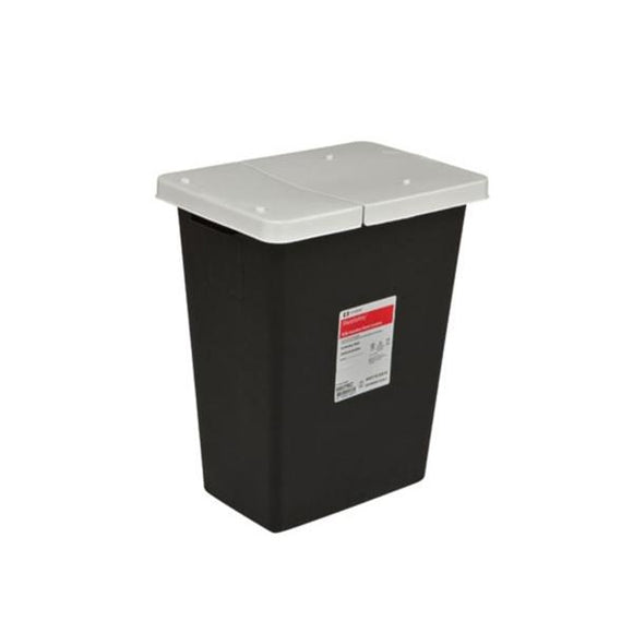 Container RCRA Hazardous Waste 12gal With Slide Lid Black Ea, 10 EA/CA