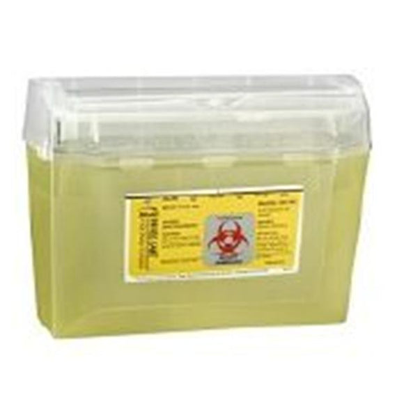 Container Sharps WallSafe 3qt Plastic Translucent Yellow 24/Ca