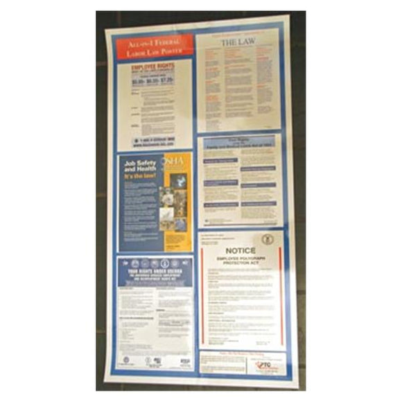 Poster Laminated Wall Labor Law Ea, 12 EA/CA