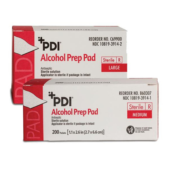 Pad Prep Alcohol Large 100/Bx, 10 BX/CA