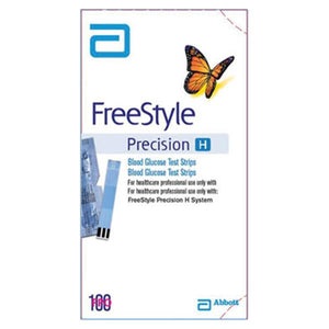 FreeStyle Precision H H Glucose Test Strip 100 Count 100/Bx, 6 BX/CA