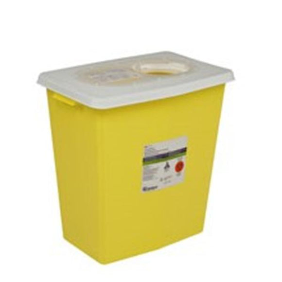 Container Sharps ChemoSafety 12gal Polypropylene Yellow Ea, 10 EA/CA