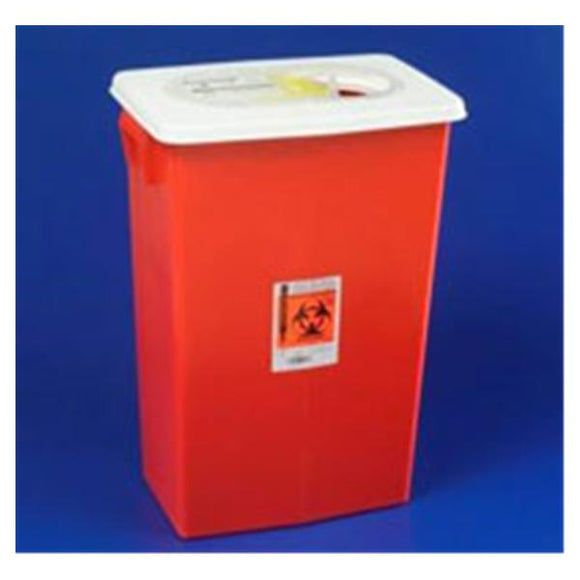 Container Sharps SharpSafety 8gal Large Volume Red Ea, 10 EA/CA