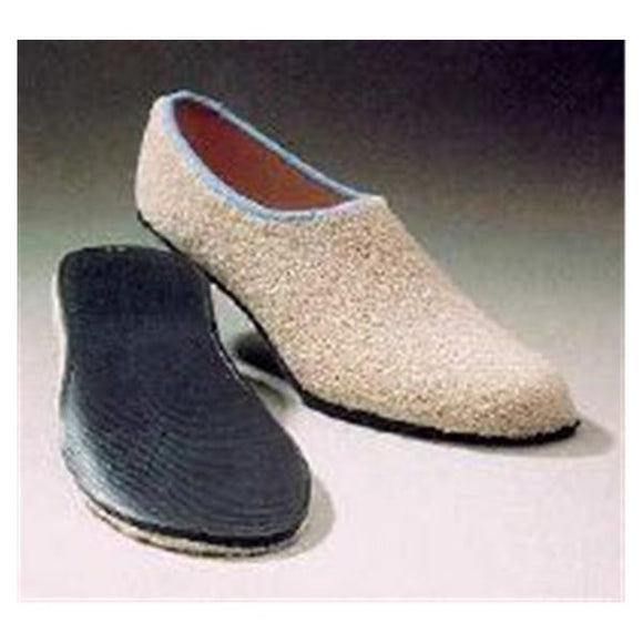 Slippers Patient Terry Unisex Adult Beige Hard Sole 60Pr/Ca