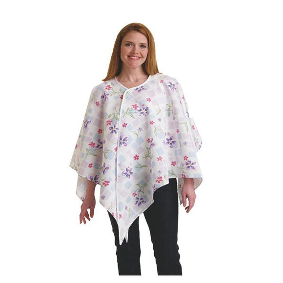 Mammogram Cloth Womens Tile Blossom Raspberry Small Adult 24/Ca