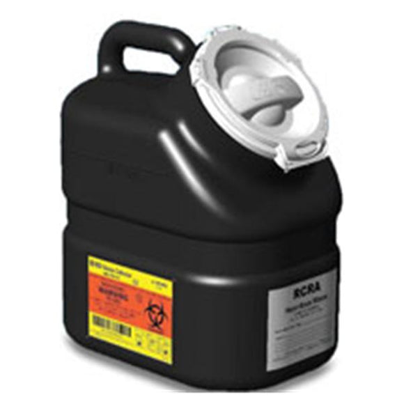 Collector Hazardous Waste RCRA 3gal 1 Piece Plug Cap Black Ea, 12 EA/CA