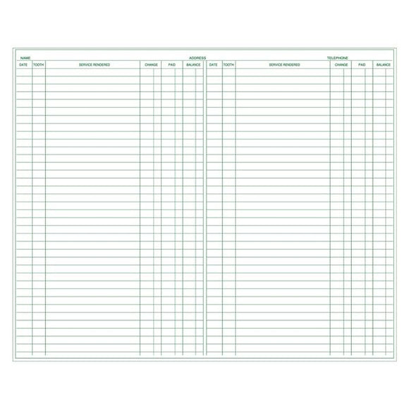 Exam Record Dental Forms 100/Pk