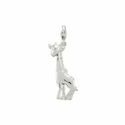 Charming Animals Giraffe Charm Sterling Silver New in Box USA Lobster Clasp