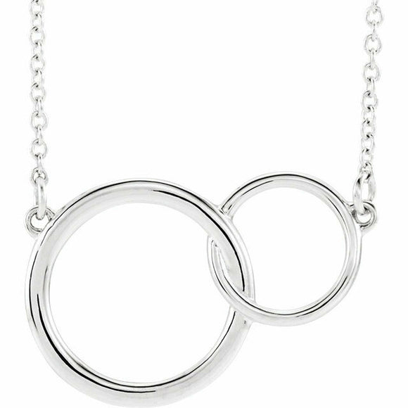 Interlocking Circle Necklace Sterling Silver