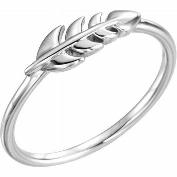 Leaf Ring Sterling Silver New in Box Size 7 Sizeable