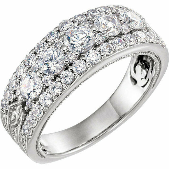 Diamond Anniversary Band White Gold