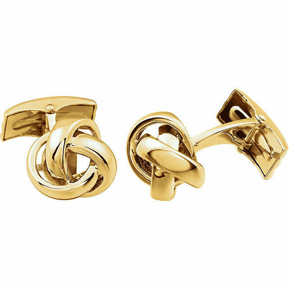 Knot Cufflinks Yellow Gold 14K