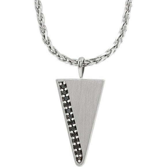 Black Diamond Men's Triangle Necklace