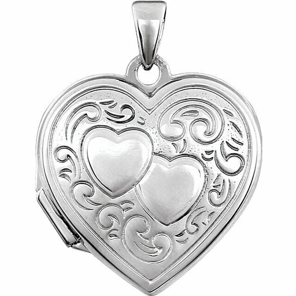Sterling Silver Locket Hinged Pendant New