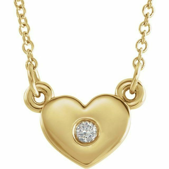Diamond Heart Pendant Necklace 16