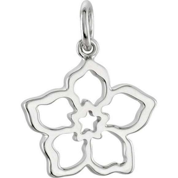 Forget Me Not Silver Flower Charm
