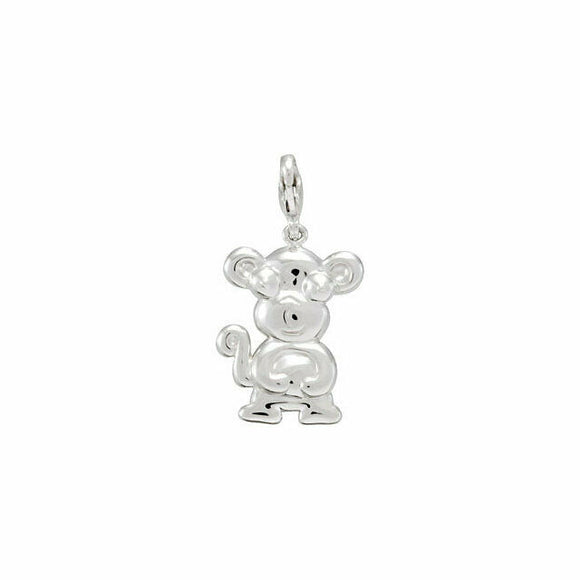 Charming Animals Monkey Charm Sterling Silver New in Box USA Lobster Clasp