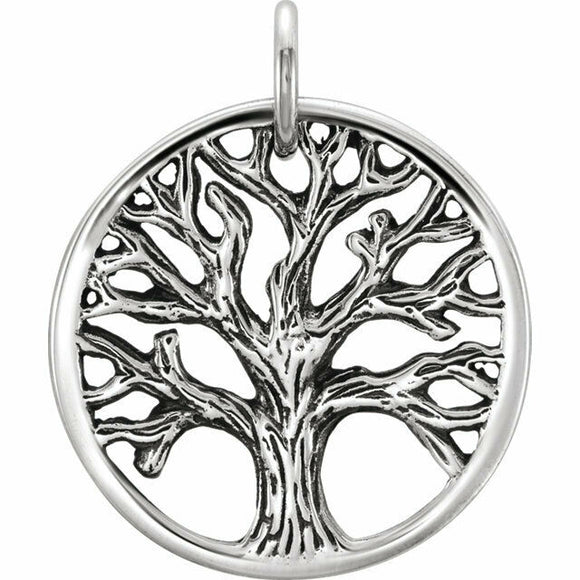 Tree of Life Silver Charm Solid Sterling New in Box Made in USA
