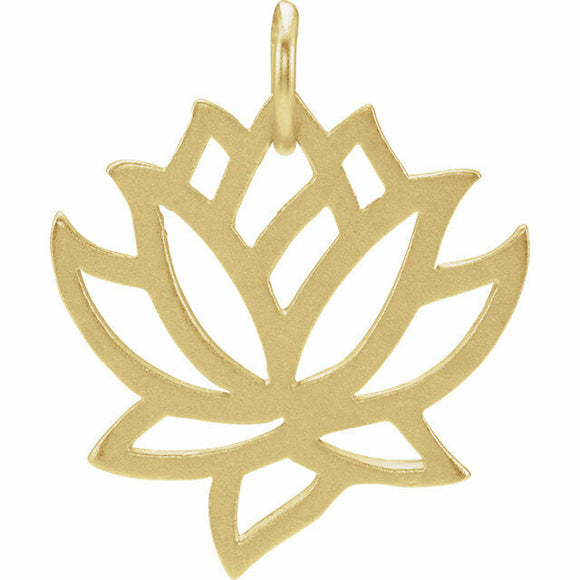 Lotus Charm Sterling Silver 24K Gold Plated