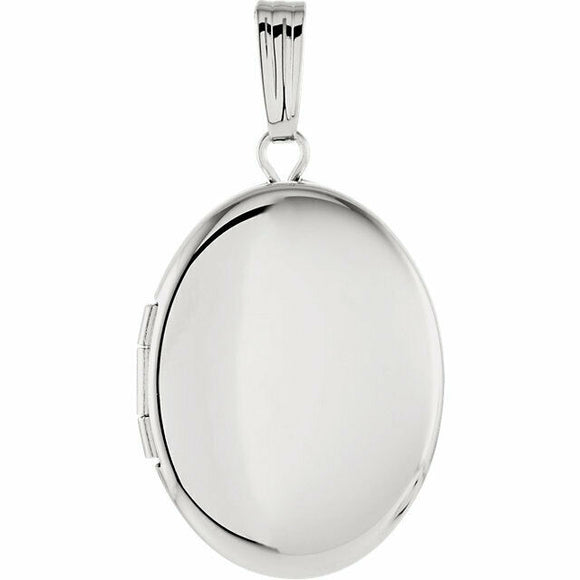 Classic Polished Sterling Silver Oval Locket New